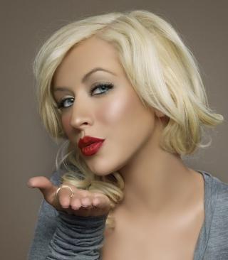 Christina Aguilera Kiss - Obrázkek zdarma pro 360x480