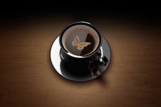 Free Butterfly Coffee Picture for Android, iPhone and iPad