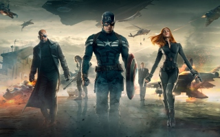 Captain America The Winter Soldier Movie Background for Android, iPhone and iPad