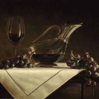 Still life grapes and wine - Obrázkek zdarma pro 320x320