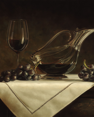 Still life grapes and wine - Obrázkek zdarma pro Nokia C2-00