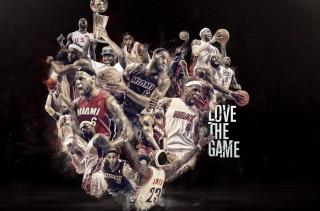 NBA, Basketball, Miami - Obrázkek zdarma pro 1366x768