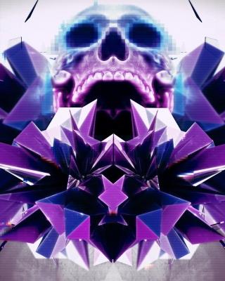 Abstract framed Skull - Obrázkek zdarma pro 352x416