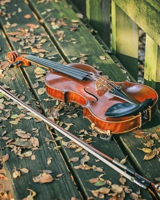 Violin on bench - Obrázkek zdarma pro 360x640