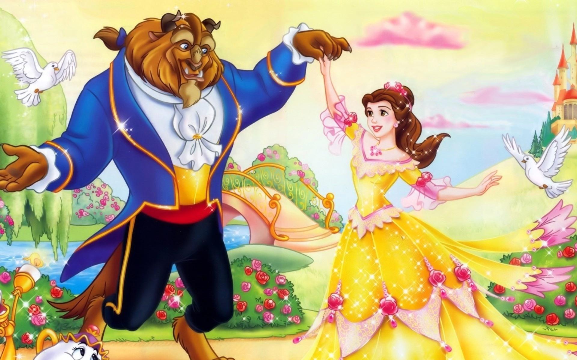 Beauty And The Beast Cartoon Wallpaper: Beauty And The Beast Disney Cartoon Wallpaper For