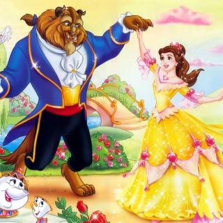 Beauty and the Beast Disney Cartoon - Obrázkek zdarma pro 1024x1024