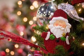 Santa Claus Christmas Decoration Wallpaper for Android, iPhone and iPad