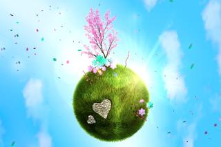 Green Planet Globe - Obrázkek zdarma pro Fullscreen Desktop 1280x1024