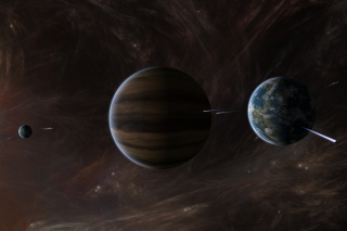 Orbit of Jupiter Background for Android, iPhone and iPad