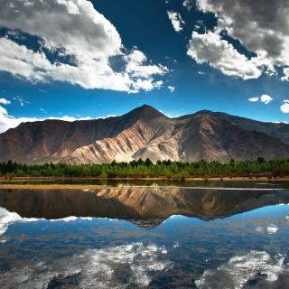 Beautiful Mountain Scenery HDR - Obrázkek zdarma pro 320x320