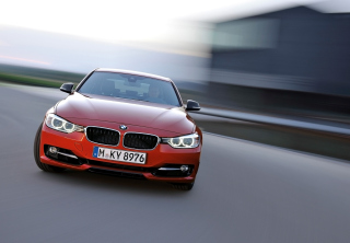 BMW 3 Series Sedan Sport Line Front Speed Wallpaper for Android, iPhone and iPad
