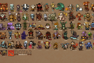 Dota 2 Characters Background for Android, iPhone and iPad
