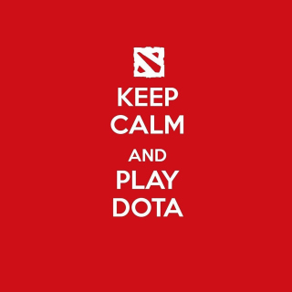 Keep Calm and Play Dota - Obrázkek zdarma pro iPad