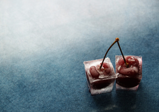 Frozen Cherry Background for Android, iPhone and iPad