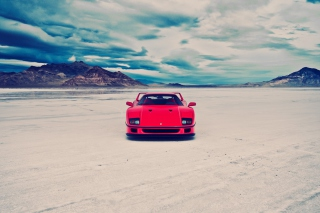 Red Ferrari F40 Front Static Wallpaper for Android, iPhone and iPad