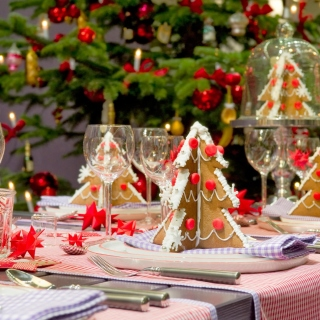 Christmas Table Decorations Ideas - Obrázkek zdarma pro iPad 3