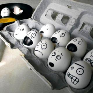 Funny Eggs - Obrázkek zdarma pro 1024x1024