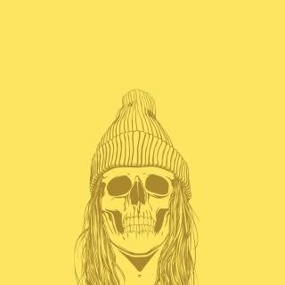 Skull In Hat - Obrázkek zdarma pro 208x208
