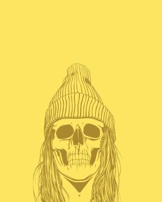 Skull In Hat - Obrázkek zdarma pro 128x160