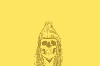 Skull In Hat Picture for Android, iPhone and iPad