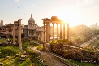Roman Forum in Rome Italy Background for Android, iPhone and iPad