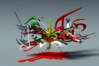 Graffiti 3D - Obrázkek zdarma pro Fullscreen 1152x864