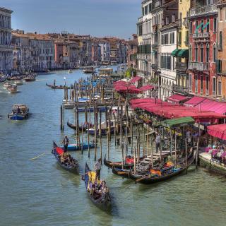 Venice Canals Painting - Obrázkek zdarma pro 208x208
