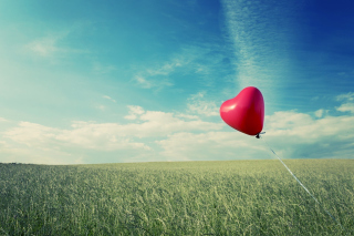 Flying Heart Background for Android, iPhone and iPad