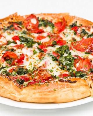Pizza with spinach - Obrázkek zdarma pro 768x1280