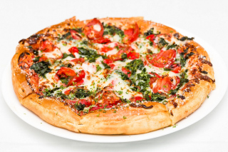 Pizza with spinach Picture for Android, iPhone and iPad