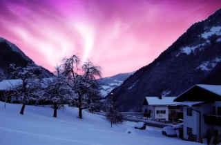 Purple Sky Wallpaper for Android, iPhone and iPad