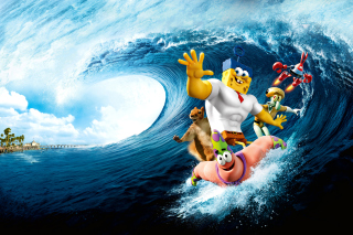 The SpongeBob Movie Sponge Out of Water - Obrázkek zdarma pro Samsung Galaxy S4
