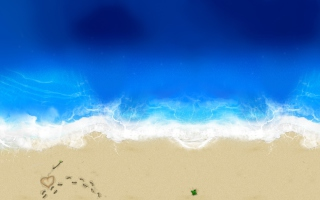 Love On The Beach Picture for Android, iPhone and iPad