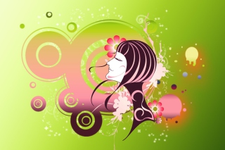 Free Cosmic Girl Picture for Android, iPhone and iPad