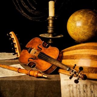Still life with violin and flute - Obrázkek zdarma pro 2048x2048