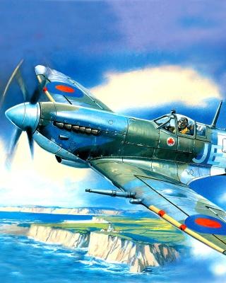 British Supermarine Spitfire Mk IX - Obrázkek zdarma pro 750x1334