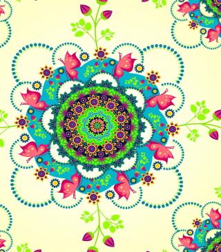 Mandala Flowers - Obrázkek zdarma pro Nokia 206 Asha