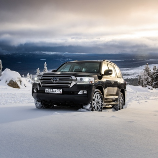 Toyota, Land Cruiser 200 in Snow - Obrázkek zdarma pro 320x320