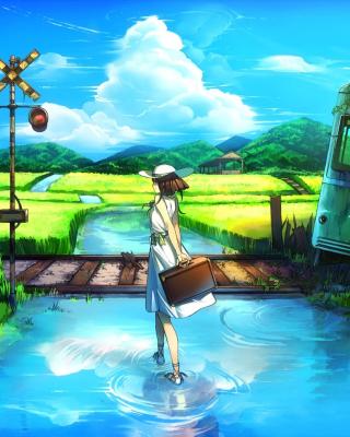 Anime Landscape in Broken City - Obrázkek zdarma pro Nokia X7