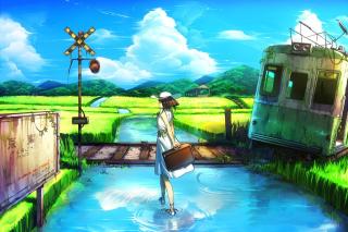 Anime Landscape in Broken City - Obrázkek zdarma pro Samsung Galaxy A
