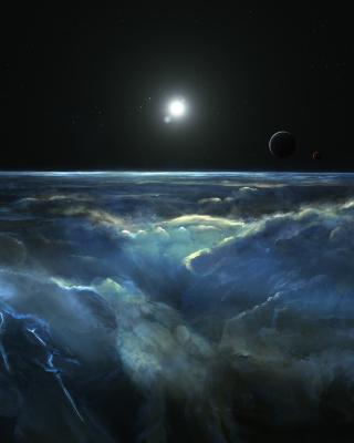 Saturn Storm Clouds - Obrázkek zdarma pro 132x176