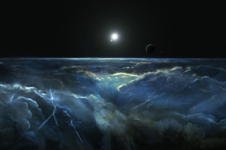 Free Saturn Storm Clouds Picture for Android, iPhone and iPad