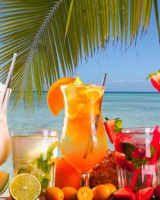 Summer Tropics Cocktail - Obrázkek zdarma pro Nokia Asha 202