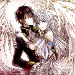 Anime Angel And Demon Love - Obrázkek zdarma pro iPad Air