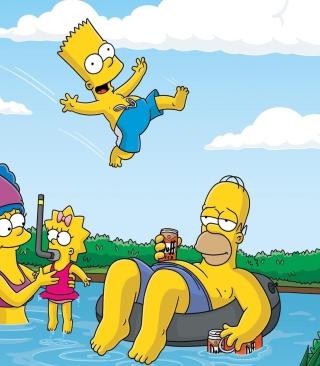 The Simpsons Swim - Obrázkek zdarma pro 640x1136