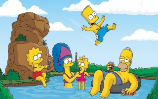 The Simpsons Swim - Obrázkek zdarma pro Samsung Galaxy A3