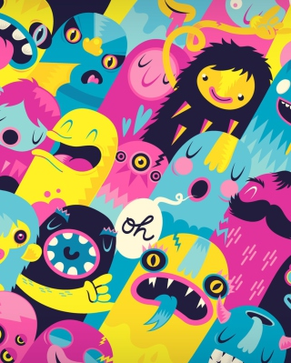 Oh Monsters - Obrázkek zdarma pro Nokia C5-06