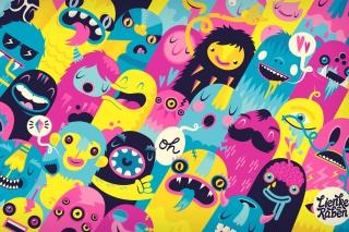Oh Monsters - Obrázkek zdarma pro 1440x1280