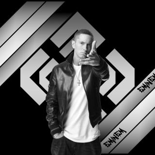 Eminem Black And White - Obrázkek zdarma pro iPad Air