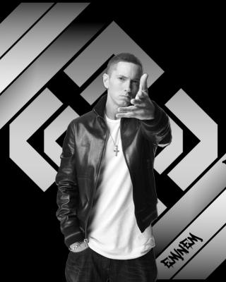 Eminem Black And White - Obrázkek zdarma pro Nokia Asha 308